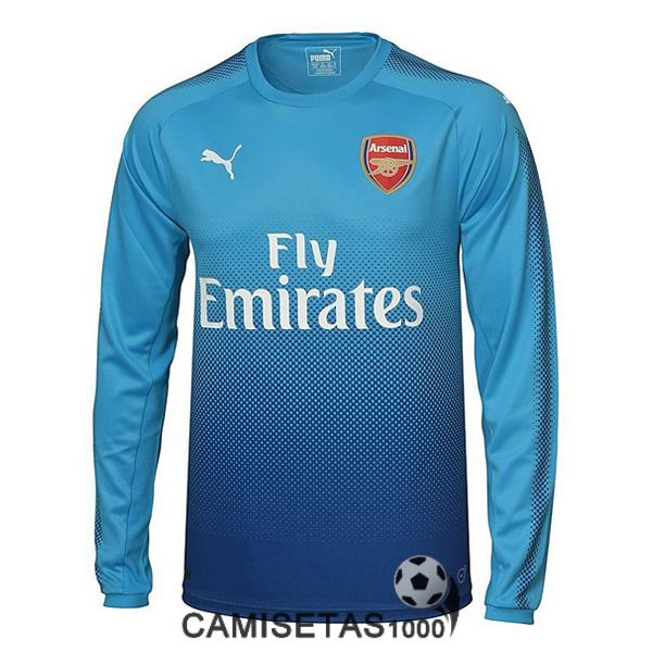 camiseta arsenal manga larga segunda 2017 2018