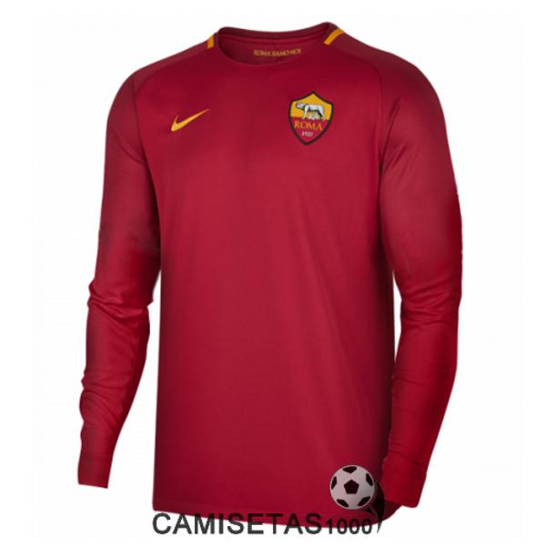 camiseta as roma manga larga primera 2017 2018