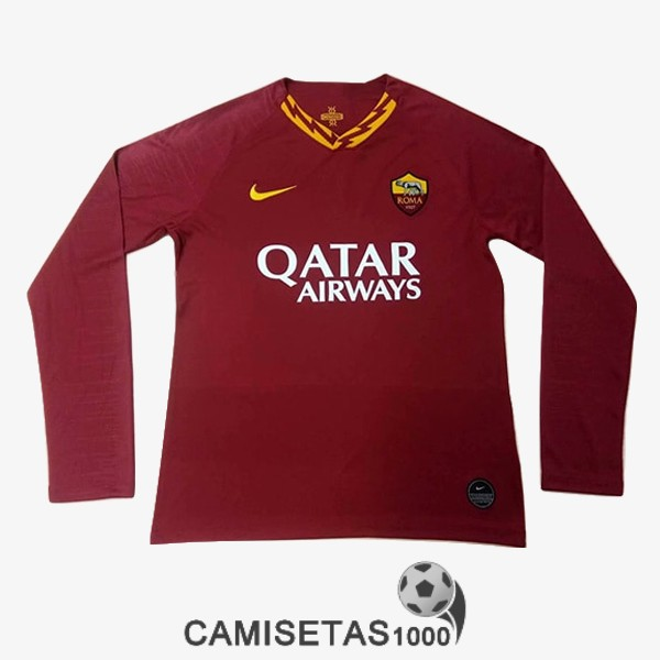 camiseta as roma manga larga primera 2019-2020