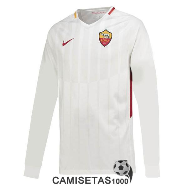 camiseta as roma manga larga segunda 2017 2018