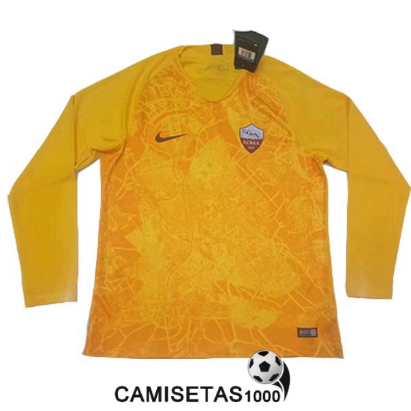 camiseta as roma manga larga tercera 2018 2019