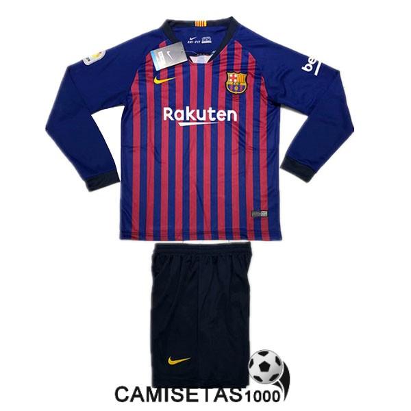 camiseta barcelona primera manga larga nino equipacion 2018 2019 9c630bb37c4