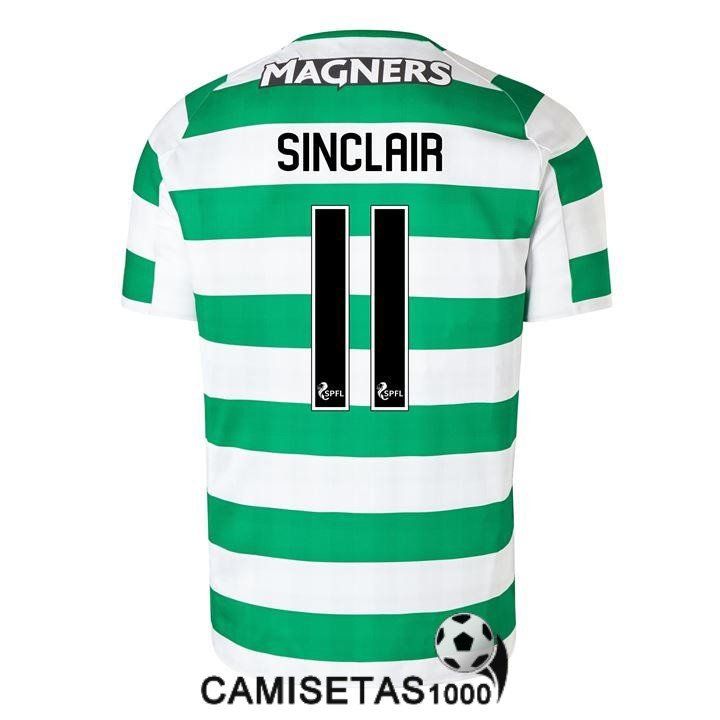 camiseta celtic glasgow sinclair primera 2018 2019