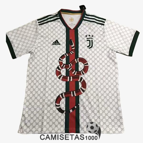 Camiseta Juventus X Gucci Edicion Especial 2019 2020 Blanco Barata Replica 16 50