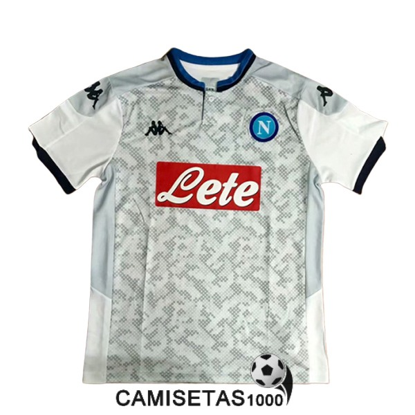 camiseta napoli champions league blanco 2019-2020