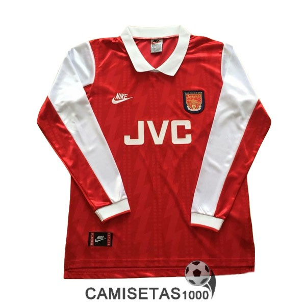 camiseta primera arsenal manga larga retro 1994