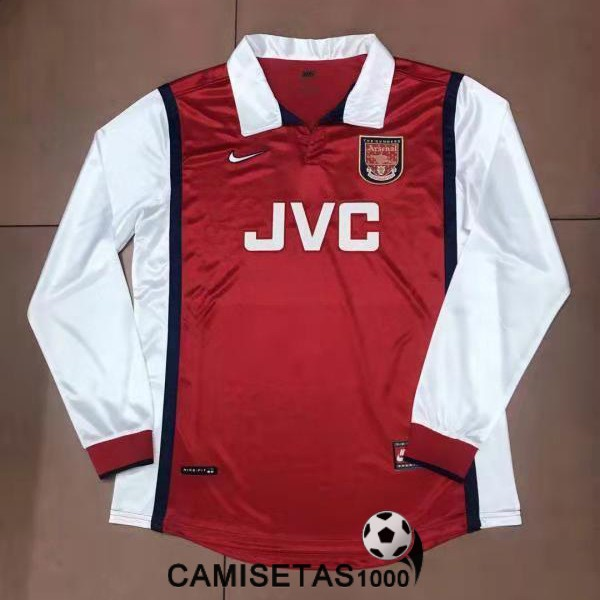 camiseta primera arsenal manga larga retro 1998