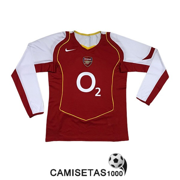 camiseta primera arsenal manga larga retro 2004-2005