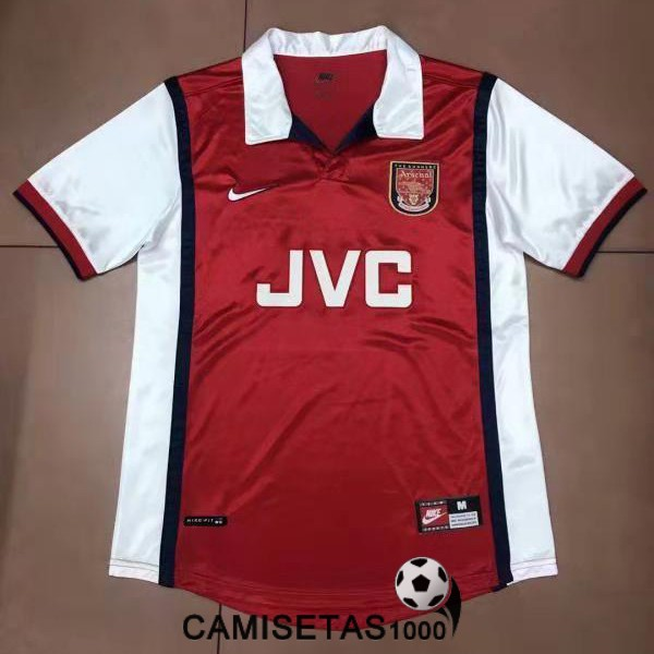 camiseta primera arsenal retro 1998