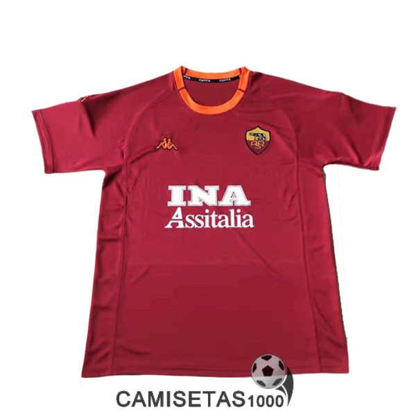 camiseta primera as roma retro 2000-2001