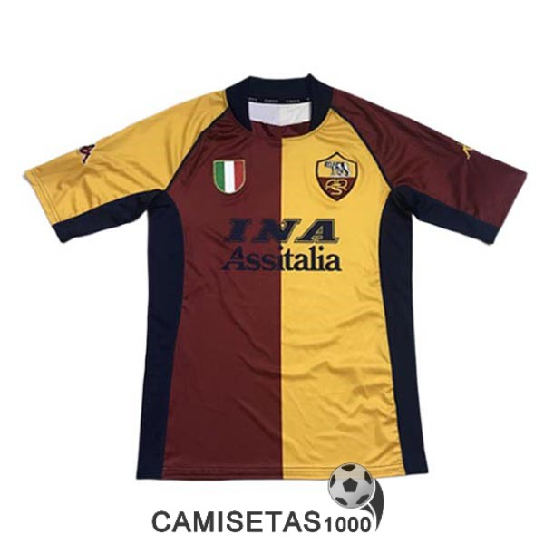 camiseta primera as roma retro 2001-2002