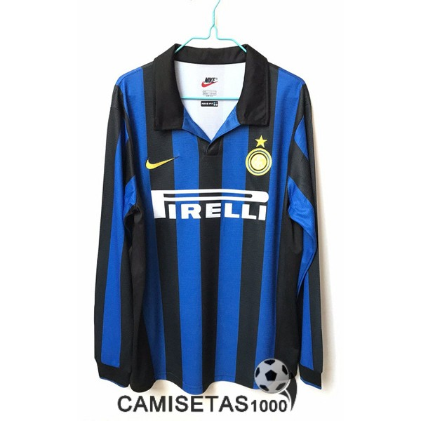 camiseta primera inter milan manga larga retro 1998