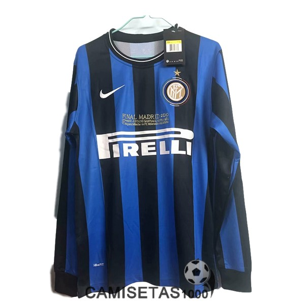 camiseta primera inter milan manga larga retro 2009-2010