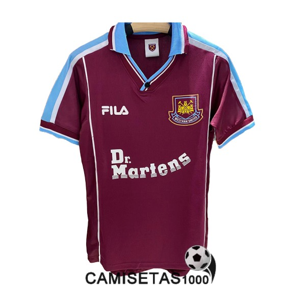 camiseta primera west ham united retro 1999-2001
