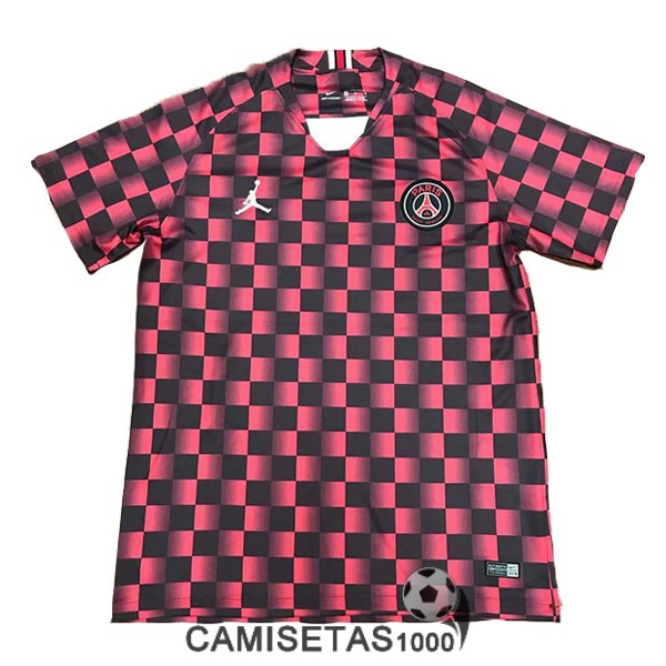f9eee28b4 camiseta psg 2019-2020 entrenamiento rojo negro