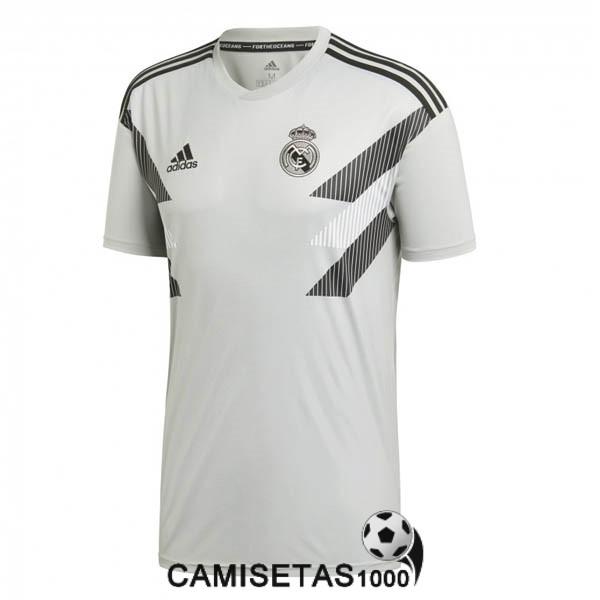 camiseta real madrid 2018 2019 entrenamiento gris 320cf1d485206