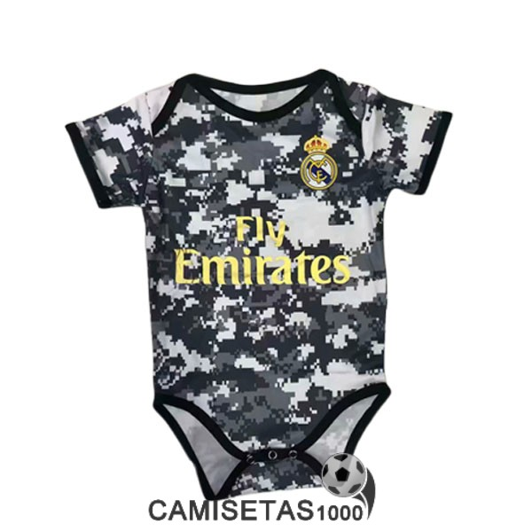 camiseta real madrid bebe 2019-2020 verde gris blanco