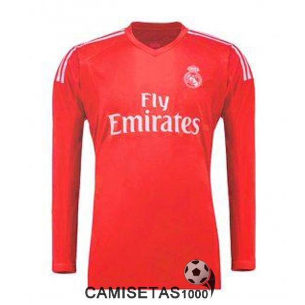camiseta real madrid manga larga portero 2017 2018 rojo