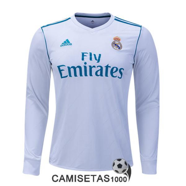 camiseta real madrid manga larga primera 2017 2018