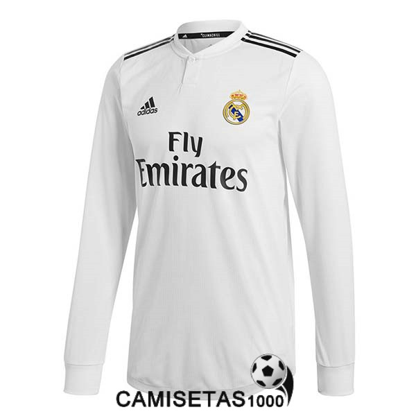 camiseta real madrid manga larga primera 2018 2019