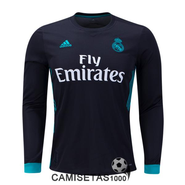camiseta real madrid manga larga segunda 2017 2018