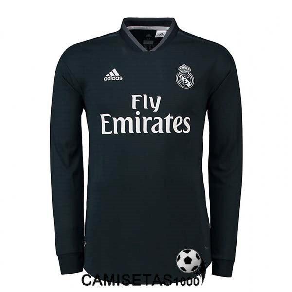 camiseta real madrid manga larga segunda 2018 2019