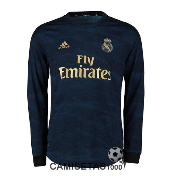 camiseta real madrid manga larga segunda 2019-2020