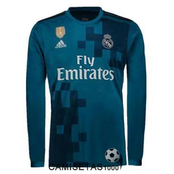 camiseta real madrid manga larga tercera 2017 2018