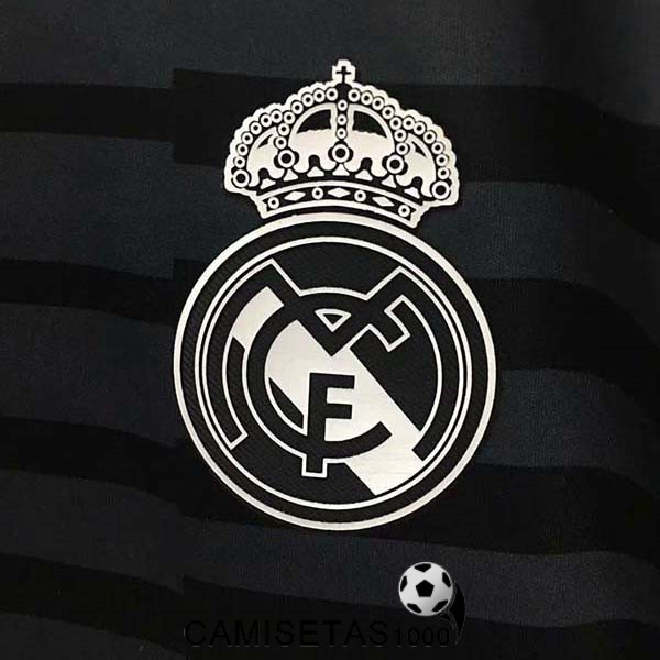 blanco camiseta real madrid portero 2018 2019 negro