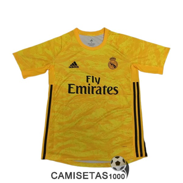 camiseta real madrid portero 2019-2020 amarillo