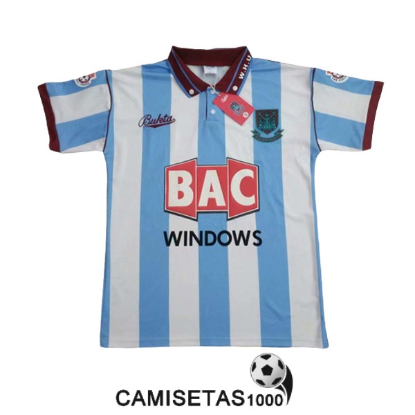 camiseta segunda west ham united retro 1991-1992