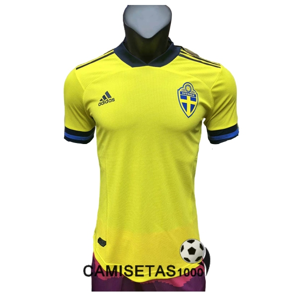 camiseta suecia primera version player 2020