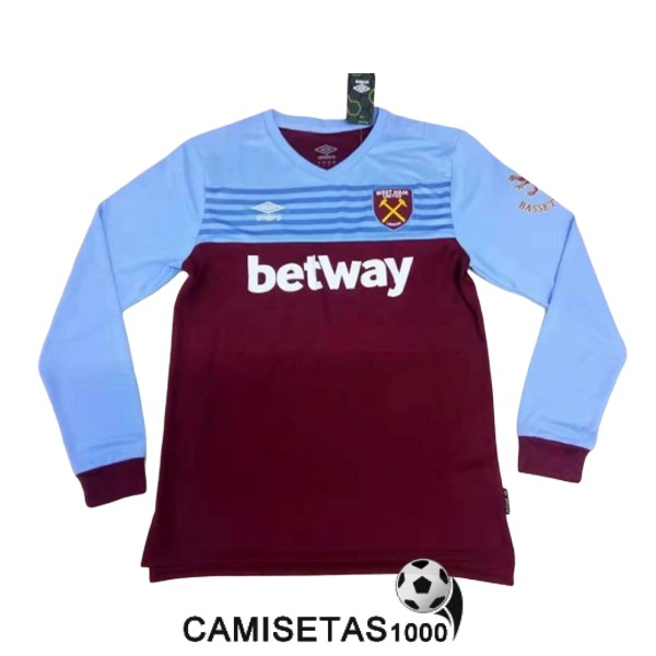 camiseta west ham united manga larga primera 2019-2020