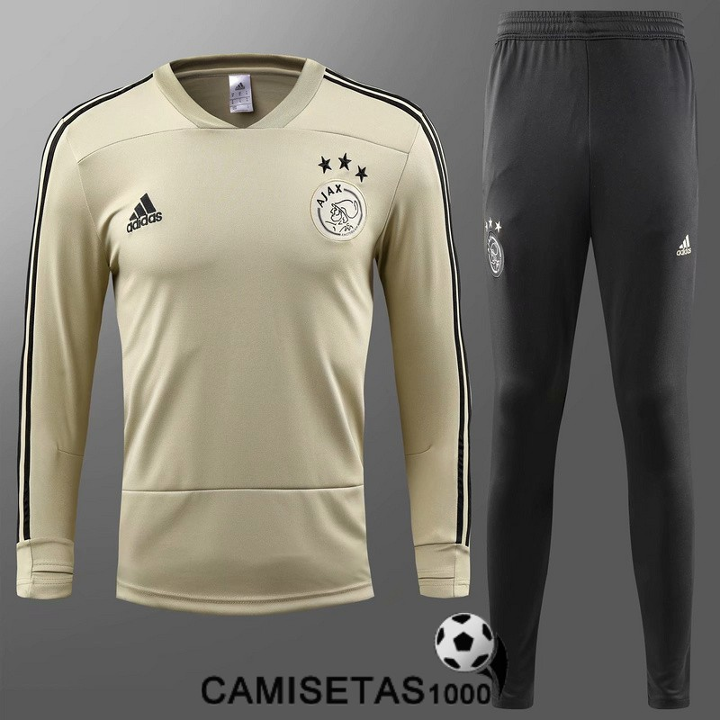 chandal ajax 2018 2019 cuello v amarillo