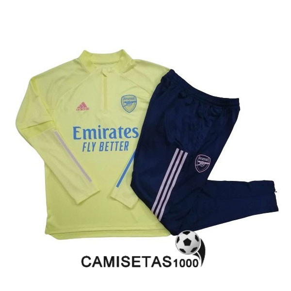 chandal arsenal 2020-2021 cremallera amarillo