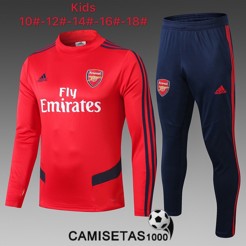 chandal arsenal nino 2019-2020 cuello alto rojo [camisetas1000-19-9-28-47]