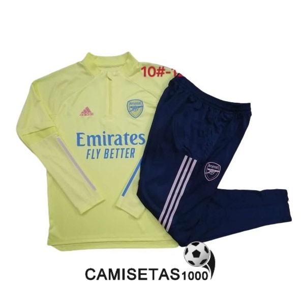chandal arsenal nino 2020-2021 cremallera amarillo