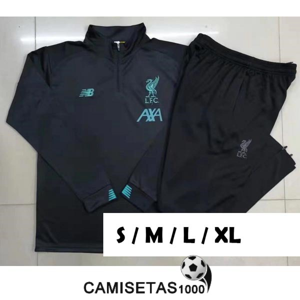 chandal liverpool 2019-2020 cremallera gris oscuro