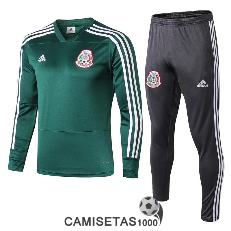 chandal mexico 2018-2019 cuello-v verde [camisetas1000-2019-6-19-130]