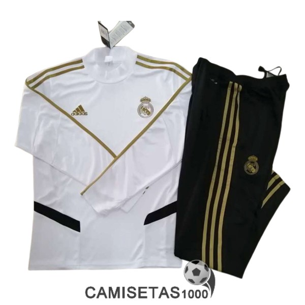 chandal real madrid 2019-2020 cuello alto blanco