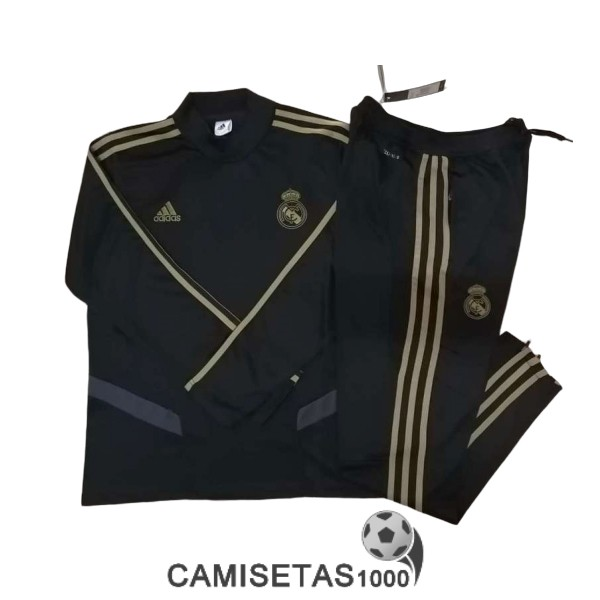 chandal real madrid 2019-2020 cuello alto negro
