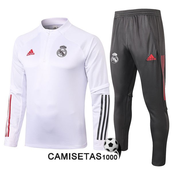chandal real madrid 2020-2021 cremallera blanco