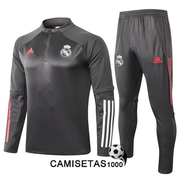 chandal real madrid 2020-2021 cremallera gris oscuro