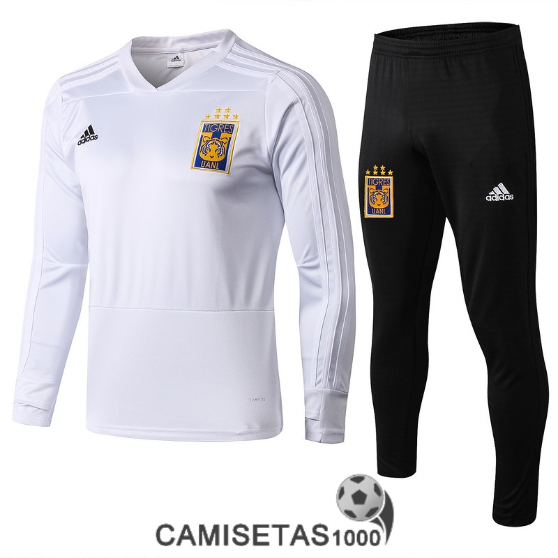 chandal tigres 2018-2019 cuello-v blanco