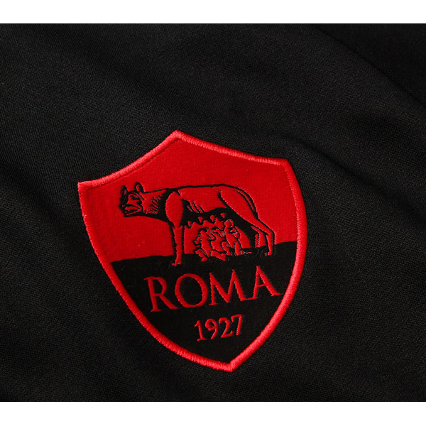chaqueta as roma 2019-2020 negro rojo