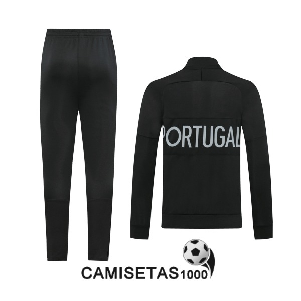 chaqueta portugal 2020-2021 negro gris<br /><span class=