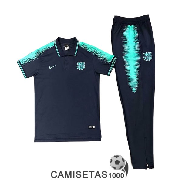 polo barcelona azul 2019-2020 kit b