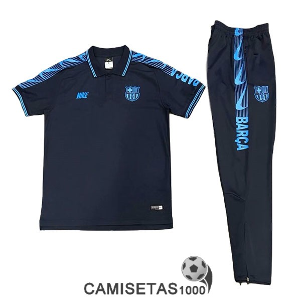polo barcelona azul 2019-2020 kit