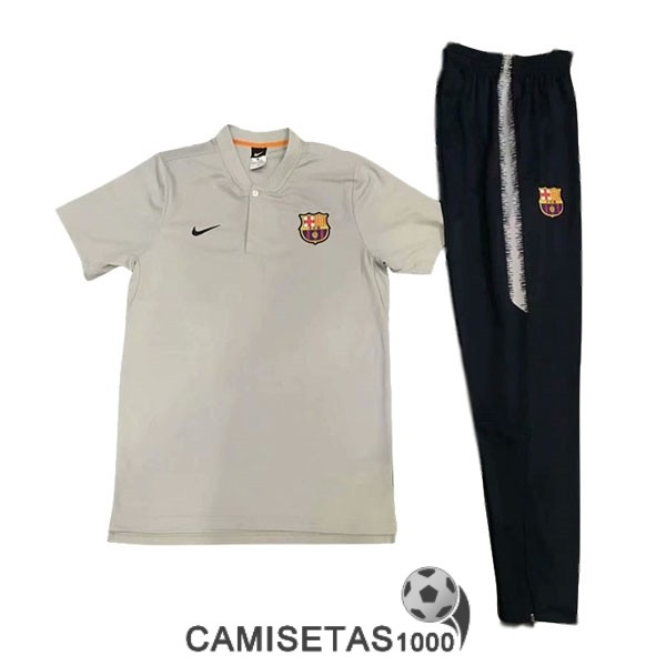 polo barcelona blanco 2019-2020 kit