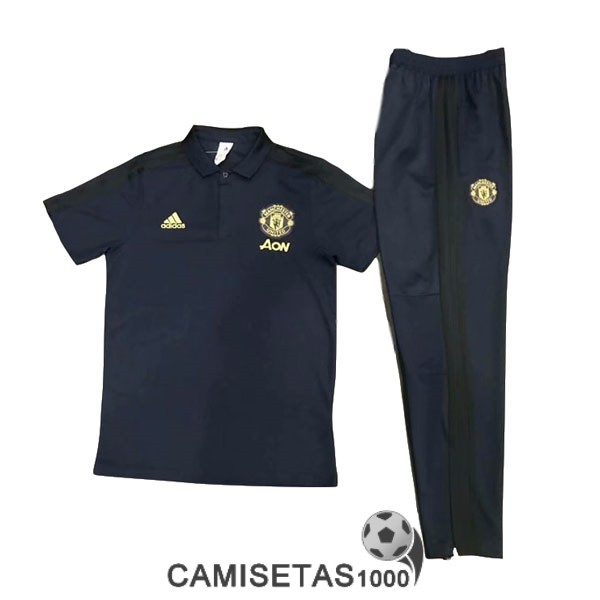 polo manchester united azul 2019-2020 kit